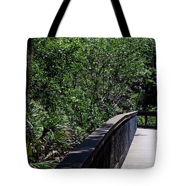 Tote Bag featuring the photograph Enchanted Walk by Gary Wonning