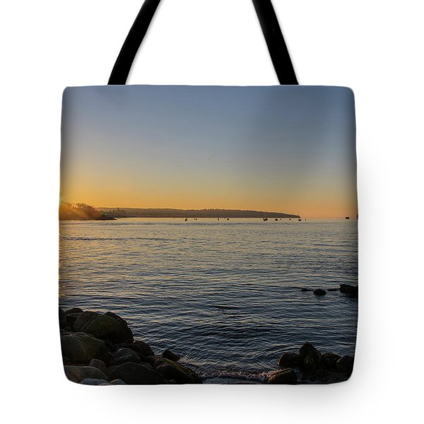 English Bay Sunset Tote Bag