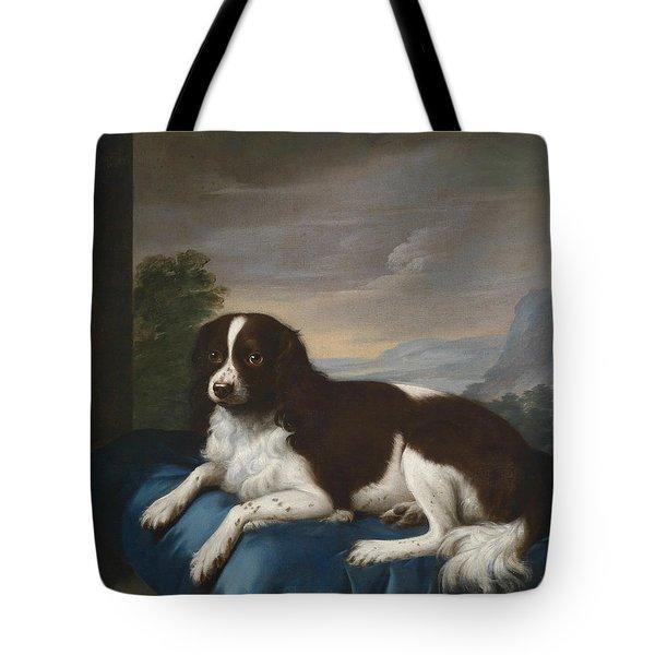 English Springer Spaniel On A Cushion Tote Bag