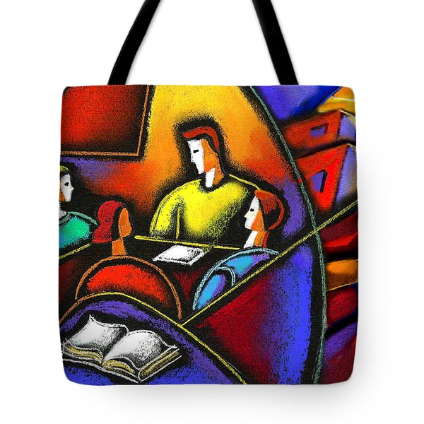Tote Bag featuring the painting Enterprise by Leon Zernitsky