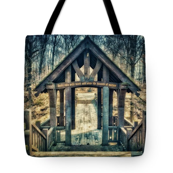 Tote Bag featuring the photograph Entrance To Seven Bridges - Grant Park - South Milwaukee #3 by Jennifer Rondinelli Reilly - Fine Art Photography