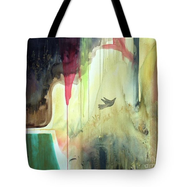 Tote Bag featuring the painting Envisage by Robin Maria Pedrero