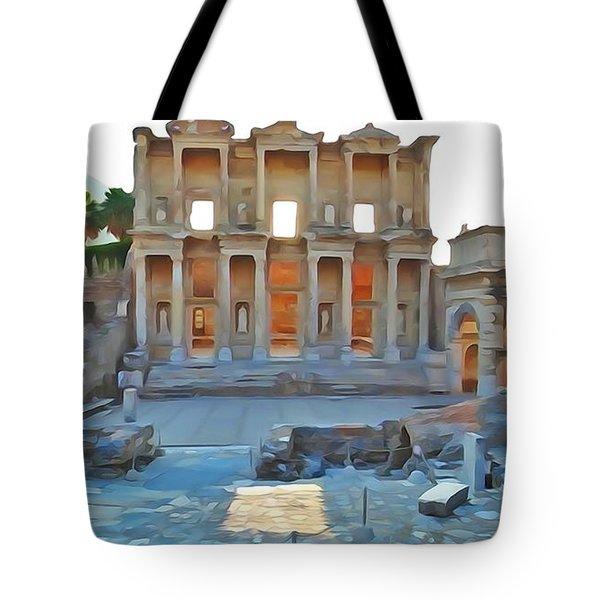Ephesus Library Tote Bag