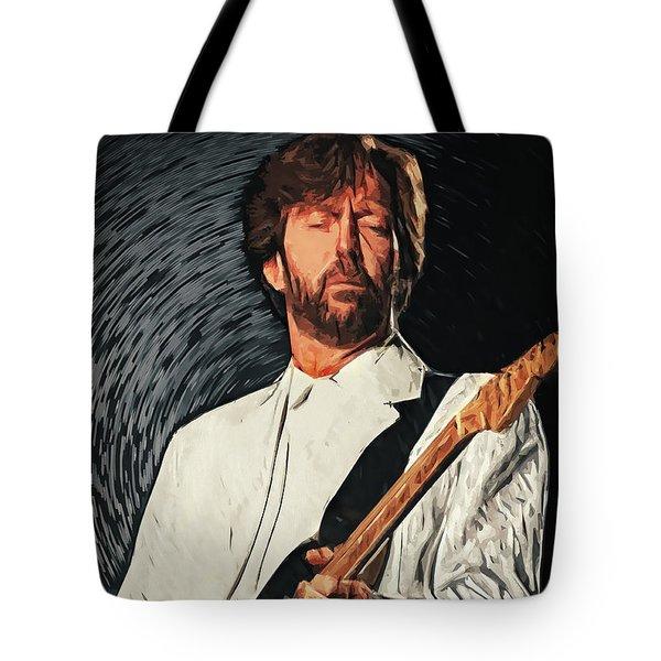 Eric Clapton Tote Bag by Taylan Apukovska