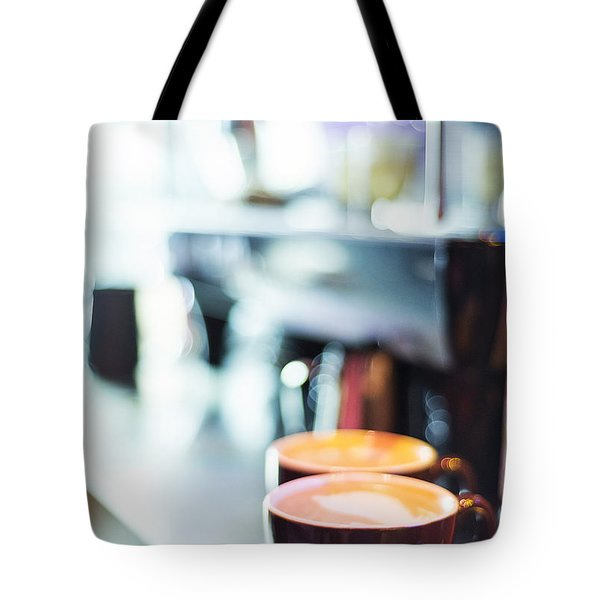 Espresso Expresso Italian Coffee Cup With Machine  Tote Bag