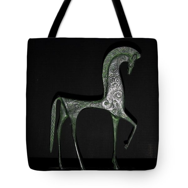 Etruscan Horse Tote Bag by Stephanie Moore