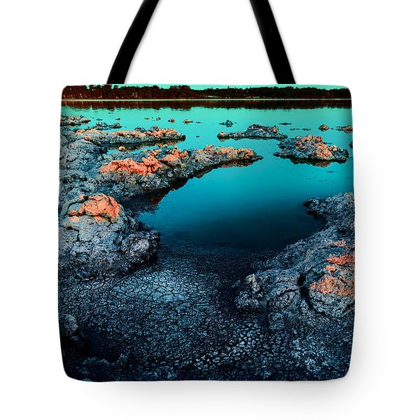 Tote Bag featuring the photograph Evening In Lake Walyungup by Julian Cook