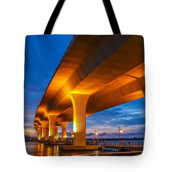 Tote Bag featuring the photograph Evening On The Boardwalk by Tom Claud