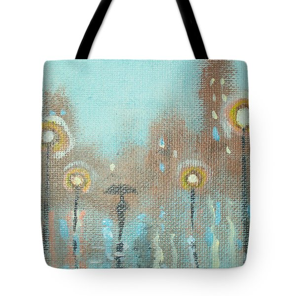 Tote Bag featuring the painting Evening Stroll by Raymond Doward
