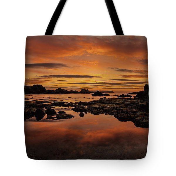 Tote Bag featuring the photograph Evenings End by Roy McPeak