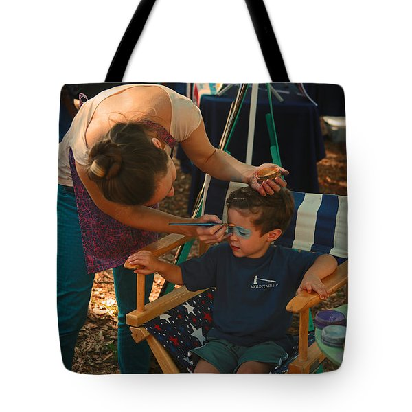 Face Painting Tote Bag