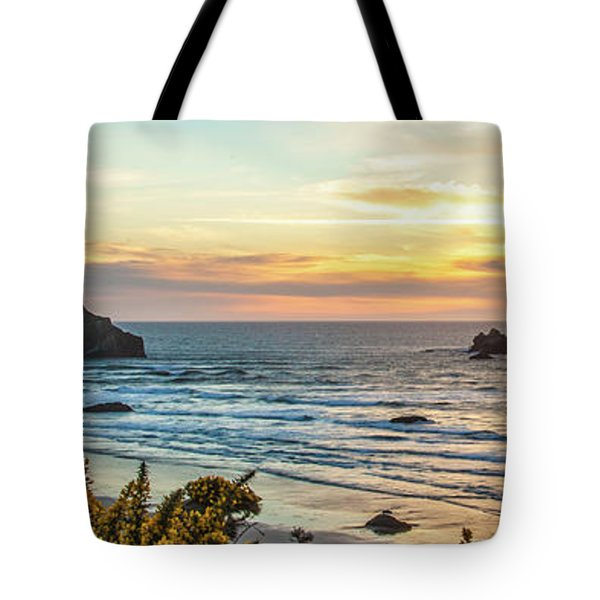 Face Rock At Sunset Tote Bag
