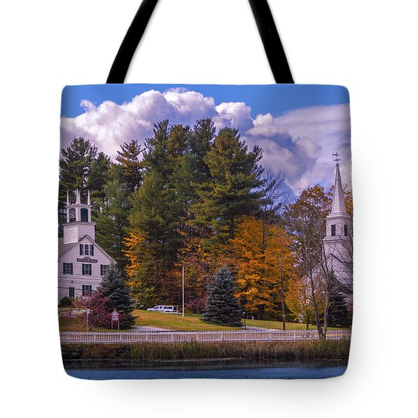 Fall Foliage In Marlow, New Hampshire. Tote Bag