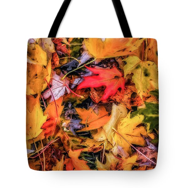 Tote Bag featuring the photograph Fallen Leaves by Dennis Bucklin