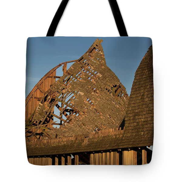 Tote Bag featuring the photograph Falling Apart by Elvira Butler