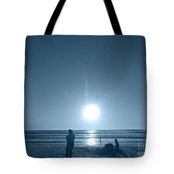 Tote Bag featuring the photograph Falling Moon  by Beto Machado