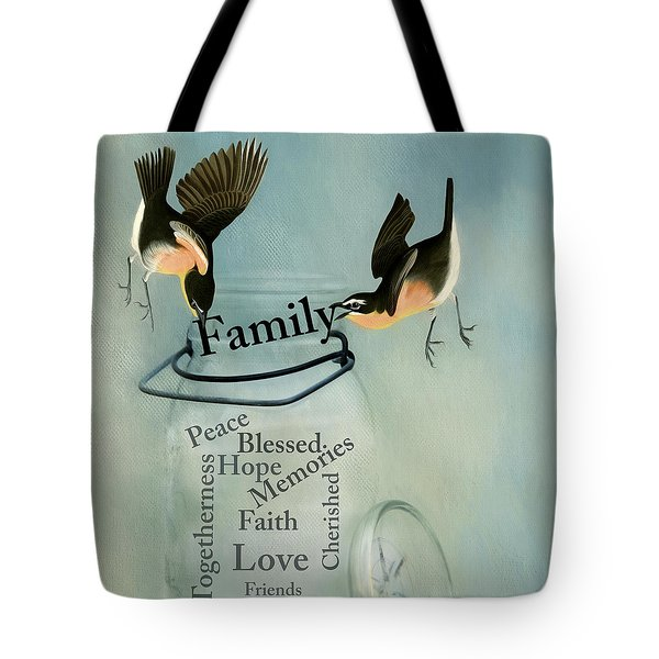 Tote Bag featuring the photograph Family by Robin-Lee Vieira
