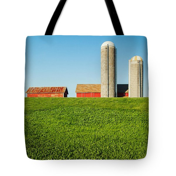 On Green And Blue Tote Bag