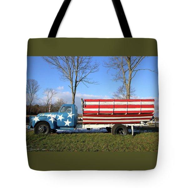 Farm Truck Wading River New York Tote Bag