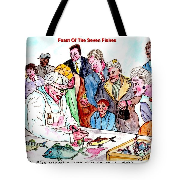 Feast Of The Seven Fishes Tote Bag by Philip Bracco