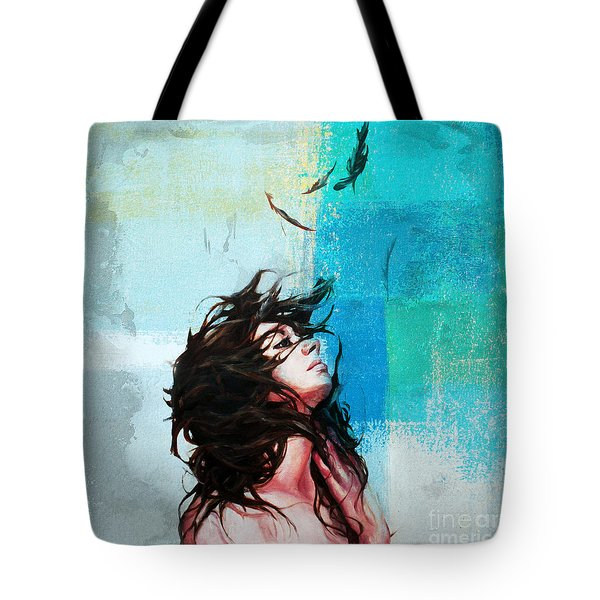 Feathers From Hair  Tote Bag by Gull G