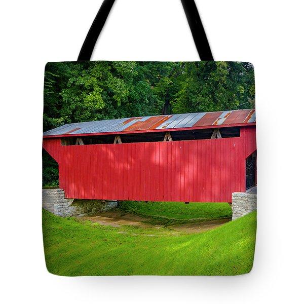 Feedwire Covered Bridge - Carillon Park Dayton Ohio Tote Bag
