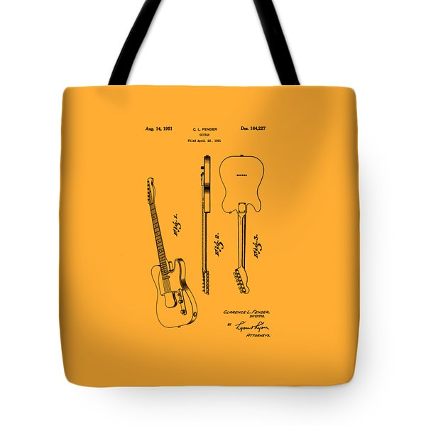 Fender 1951 Electric Guitar Patent Art - B  Tote Bag