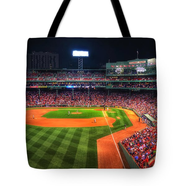 Fenway Park At Night - Boston Tote Bag