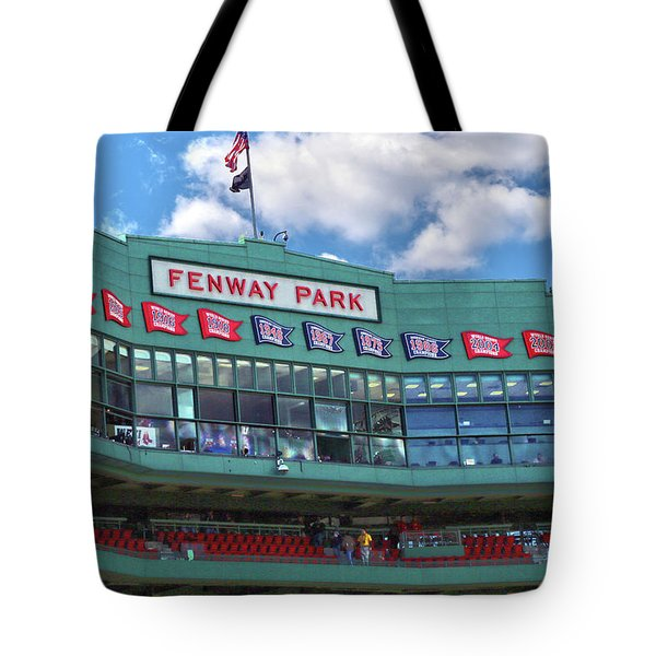Tote Bag featuring the photograph Fenway Park by Mitch Cat