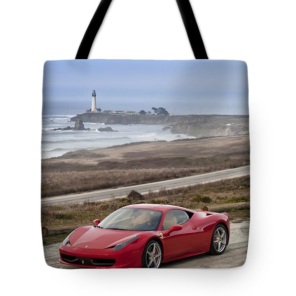 Tote Bag featuring the photograph Ferrari 458 Italia by ItzKirb Photography