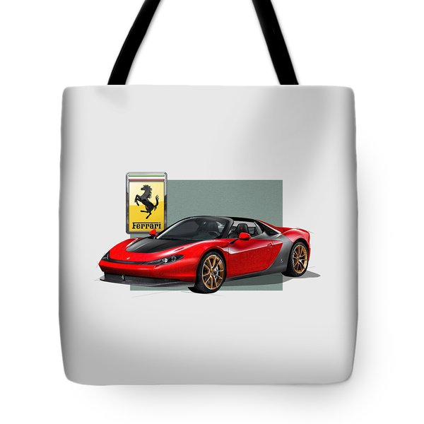 Ferrari Sergio With 3d Badge  Tote Bag