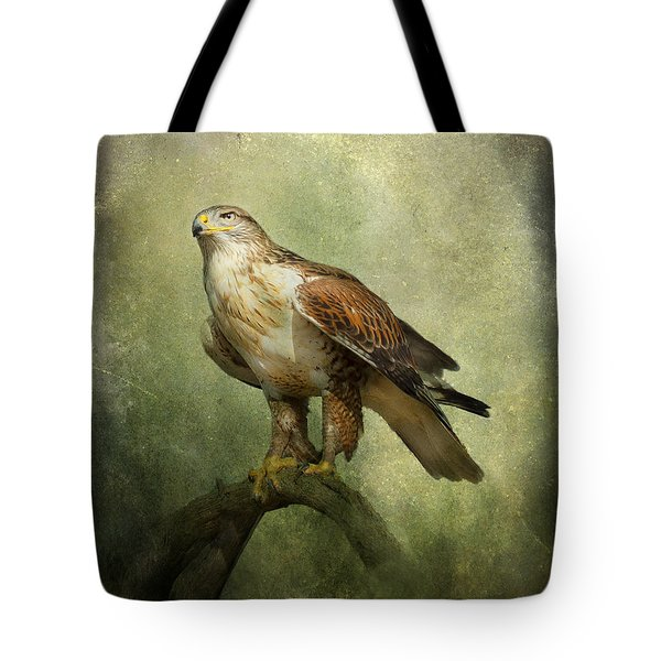 Tote Bag featuring the photograph Ferruginous Hawk by Barbara Manis