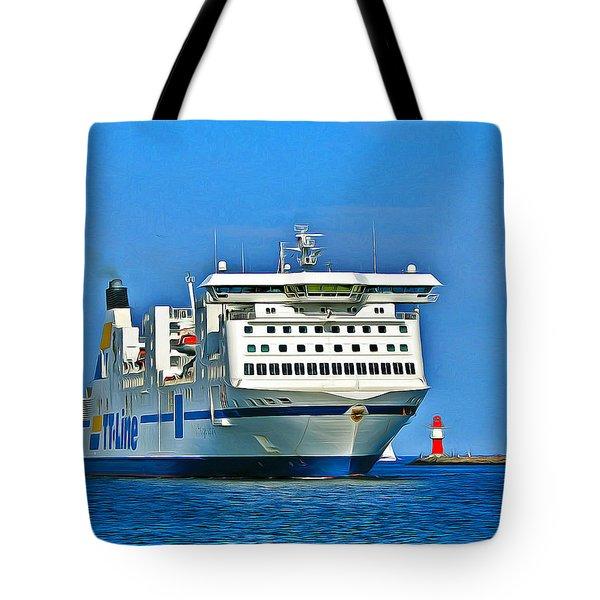 Ferry - Baltic Sea Tote Bag