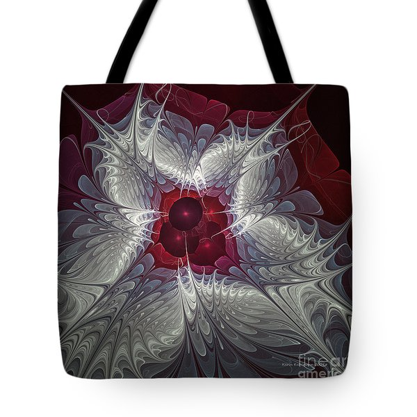 Tote Bag featuring the digital art Festive Star by Karin Kuhlmann