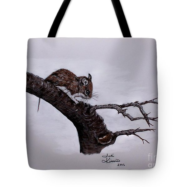 Tote Bag featuring the painting Field Mouse by Judy Kirouac