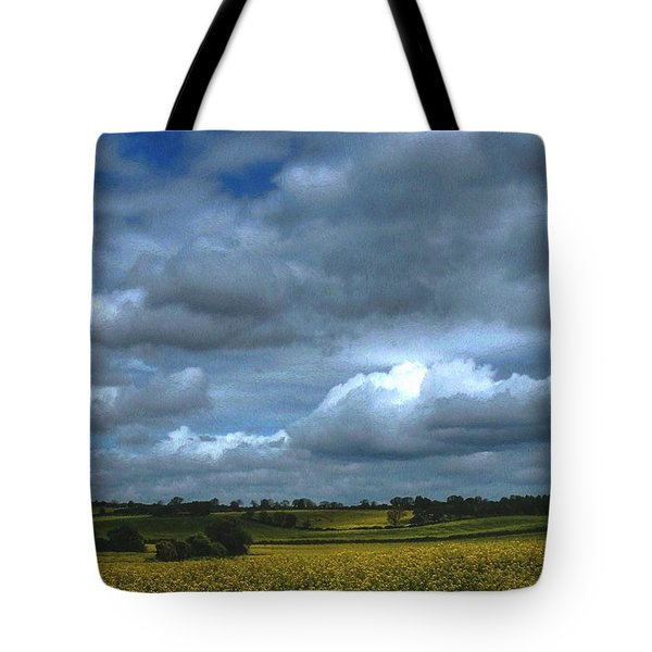 Fields Of Yellow A Landscape Tote Bag