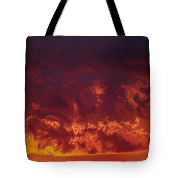 Fiery Clouds Tote Bag by Michal Boubin