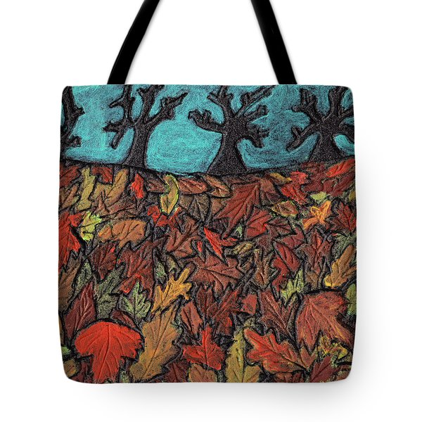 Finding Autumn Leaves Tote Bag by Wayne Potrafka