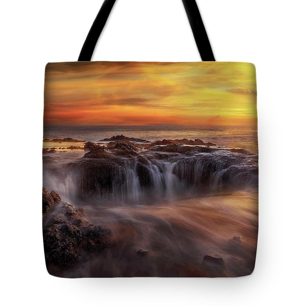 Fire And Water Tote Bag by David Gn