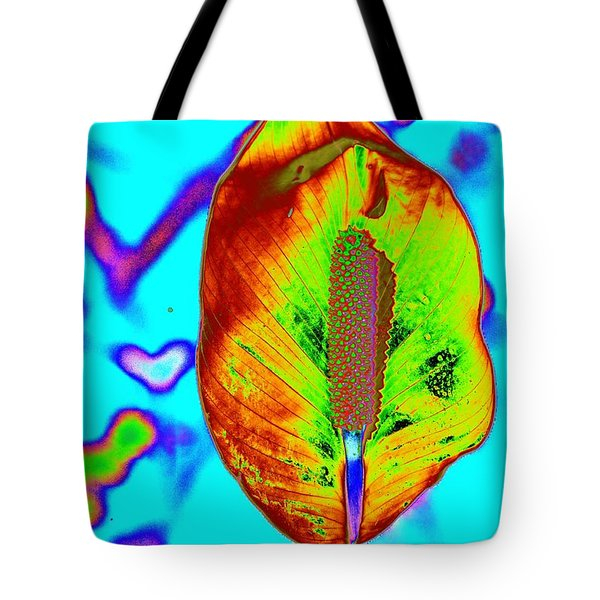 Fired Up Anthurium Tote Bag