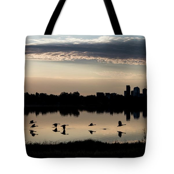 First Flight At Sunrise Tote Bag