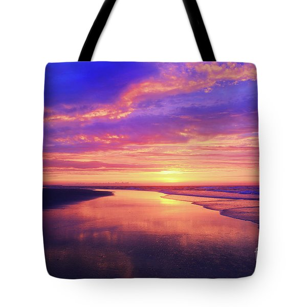 First Light At The Beach Tote Bag