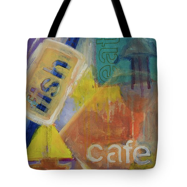 Tote Bag featuring the painting Fish Cafe by Susan Stone