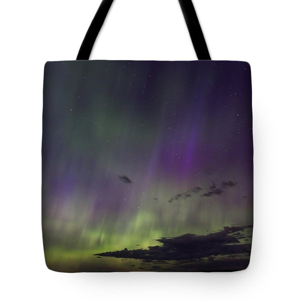 Fish Creek Marina Northern Lights Tote Bag