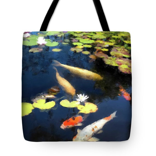 Fish Pond Tote Bag by Gary Grayson