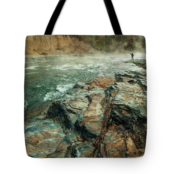 Tote Bag featuring the photograph Fishing Day by Iris Greenwell