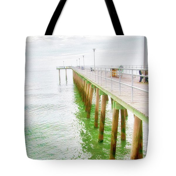 Fishing Pier, Margate, New Jersey Tote Bag