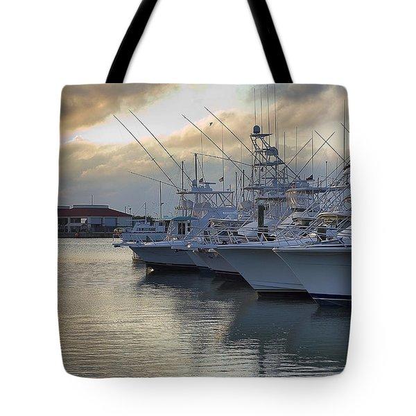Fishing Yachts Tote Bag