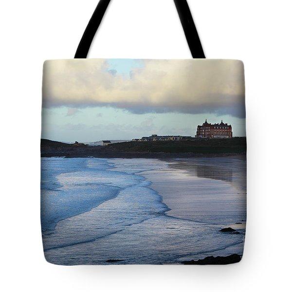 Fistral Beach Tote Bag by Nicholas Burningham