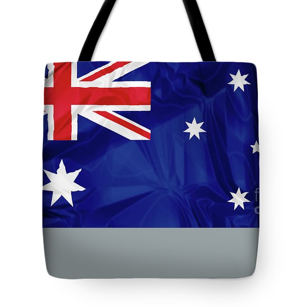 Tote Bag featuring the digital art Flag Of Australia by Benny Marty